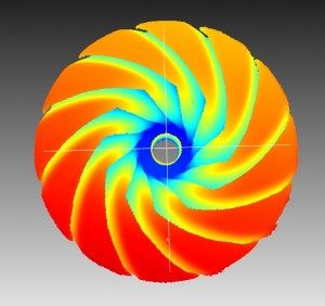 High resolution turbine wheel scan in 10μm resolution.